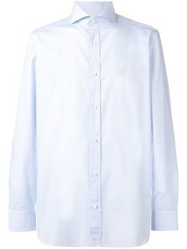 Borrelli classic plain shirt - Blue