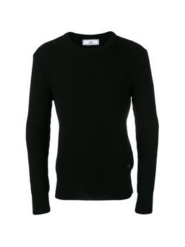 Ami Alexandre Mattiussi fisherman rib crewneck sweater - Black