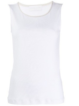 Fabiana Filippi slim-fit tank top - White