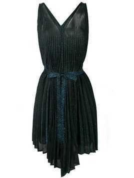 Circus Hotel short pleated dress - Black