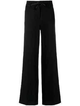 Ann Demeulemeester high waisted wide trousers - Black