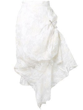 Act N°1 ruched safety pin skirt - White