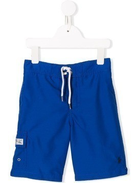 Ralph Lauren Kids logo swimshorts - Blue