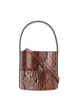 Staud snakeskin bucket bag - Brown
