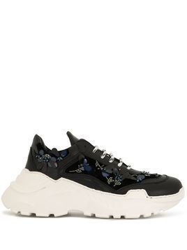 Giambattista Valli embellished low-top sneakers - Black