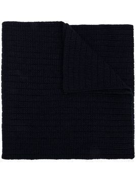Moncler ribbed knitted scarf - Blue