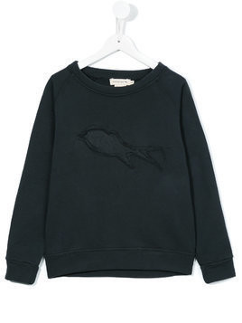 Andorine frayed patch sweatshirt - Grey