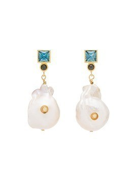 Anni Lu Bling pearl agate earrings - NEUTRALS