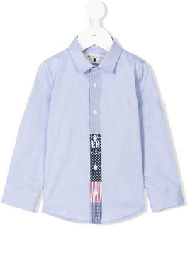 Lapin House - stripe detail shirt - Kinder - Cotton - 9 mth - Blue