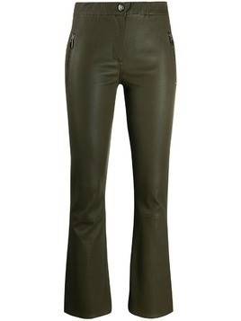 Arma kickflare leather trousers - Green