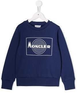 Moncler Kids piped trim sweatshirt - Blue