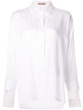 Nehera oversized layered shirt - White