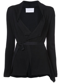 Kimora Lee Simmons drape front wrap jacket - Black