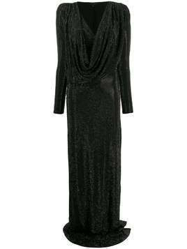Philipp Plein crystal embellished gown - Black
