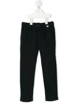Il Gufo elasticated straight-eg trousers - Blue