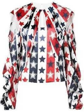 Hellessy stars and stripes blouse - White