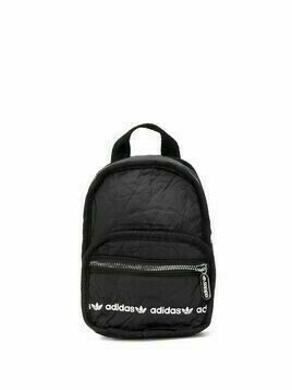 adidas logo print backpack - Black
