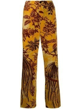 F.R.S For Restless Sleepers printed straight-leg trousers - Yellow