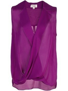 L'agence draped sleeveless blouse - Purple