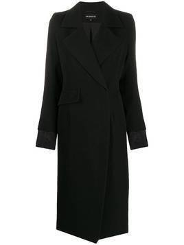 Ann Demeulemeester concealed fastening double-breasted coat - Black