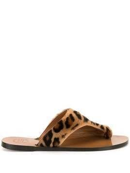 Atp Atelier animal print sandals - Brown