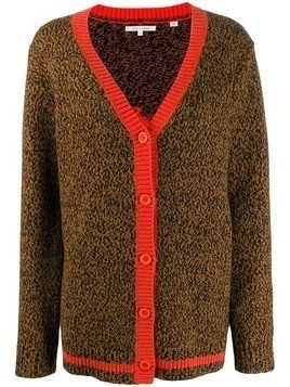 Chinti & Parker contrast trimmed cardigan - Brown