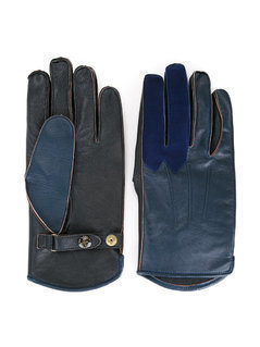 Addict Clothes Japan - Bicolour Gloves - Men - Sheep Skin/Shearling/Polyester - M