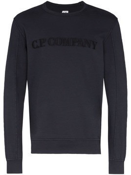CP Company logo embroidered sweatshirt - Blue