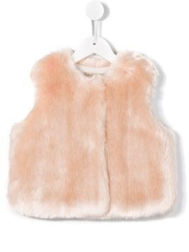 Hucklebones London faux fur gilet - Pink & Purple