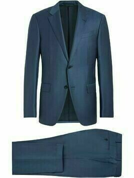 Ermenegildo Zegna single-breasted two-piece suit - Blue