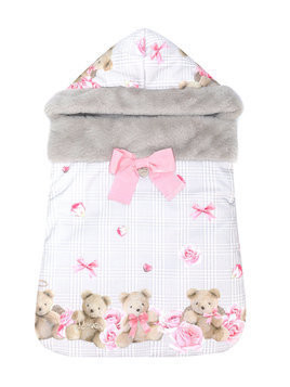 Lapin House teddy bear print nest - Grey