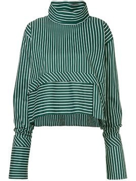 Anouki striped oversized blouse - Green