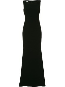 Isabel Sanchis sleeveless boatneck fishtail gown - Black