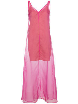 Staud Costa sleeveless sheer dress - Pink