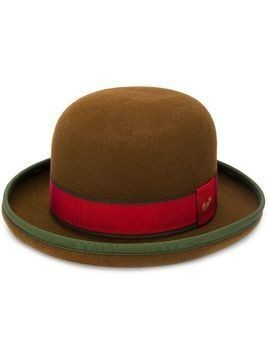 Borsalino ribbon bucket hat - Brown