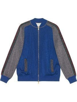 Gucci Bomber in wool with lurex - Blue
