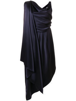 Osman drape front dress - Blue