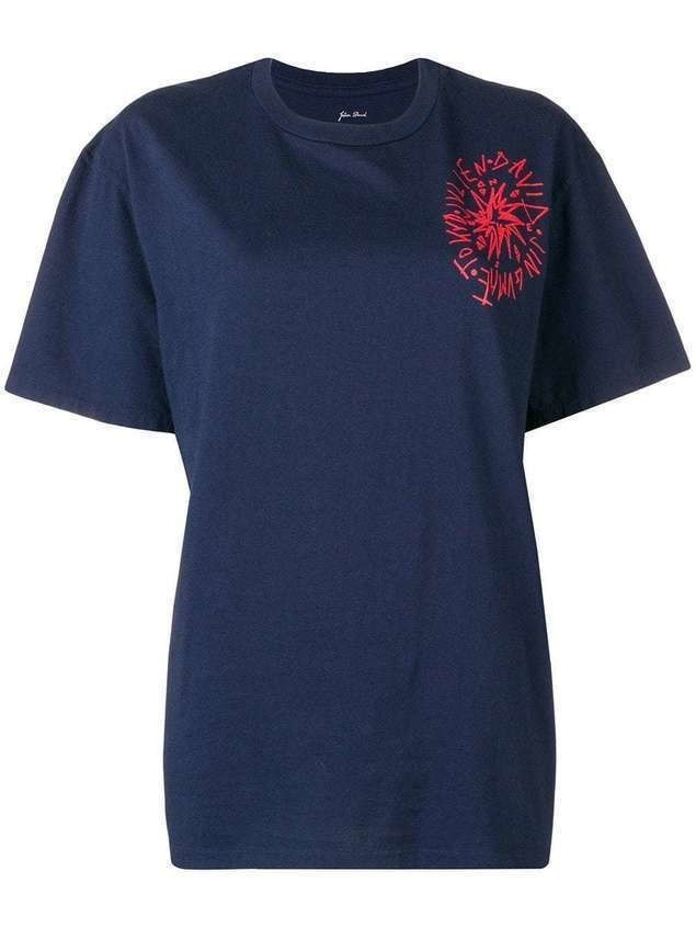 Julien David round neck T-shirt - Blue