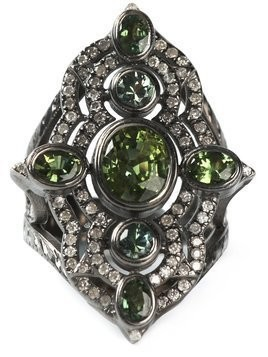 Loree Rodkin embellished ring - Metallic