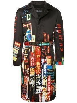 "Neil Barrett ""Shinjuku-soho"" print trench coat - Black"