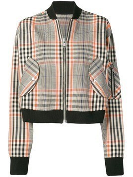 Essentiel Antwerp plaid bomber jacket - White