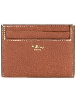 Mulberry logo plaque cardholder - Brown
