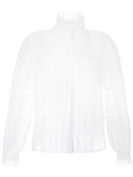 Dice Kayek lace pleated shirt - White