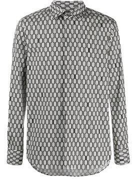 John Richmond Cariamba razor-print shirt - Black