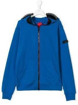 Ai Riders On The Storm Kids TEEN structured zipped hoodie - Blue