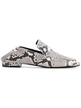 Coliac pearl accented slip-on loafers - Grey