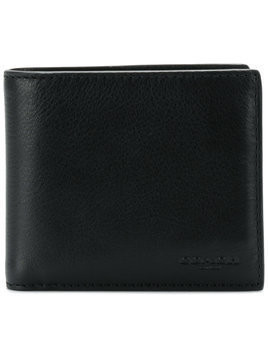 Coach embossed logo billfold wallet - Black