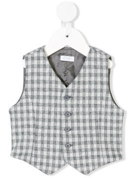 Il Gufo checked vest - Grey