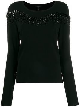 Escada beaded knit jumper - Black