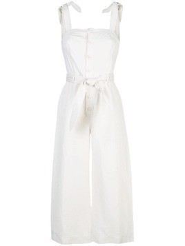 Apiece Apart Deia cropped leg jumpsuit - White